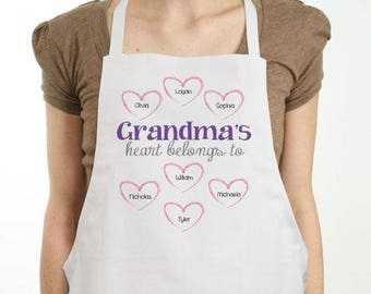 Personalized Heart Apron Custom Name Gift