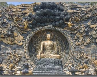 Single Panel Buddha Mural Print