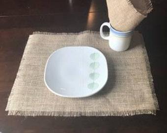 Burlap place mat set of 4