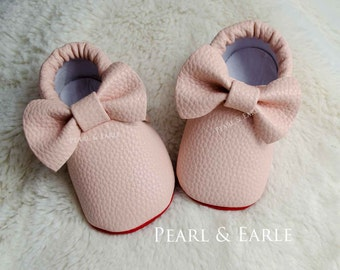 Pink Baby Shoes, Baby Shoe, Toddler Shoe, Baby Moccasins, Leather Moccasins, Toddler Moccasins, Baby Shoes, Gold Moccasins, Baby Moccasins