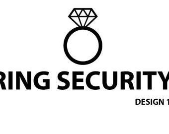 Ring Security vinyl sticker