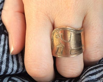 Elephant little prince snake ring