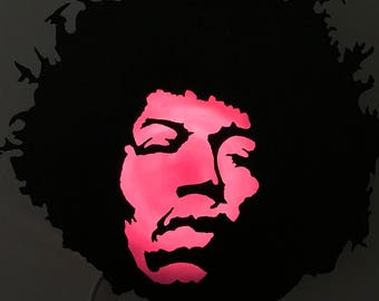 Custom made Jimi Hendrix metal light