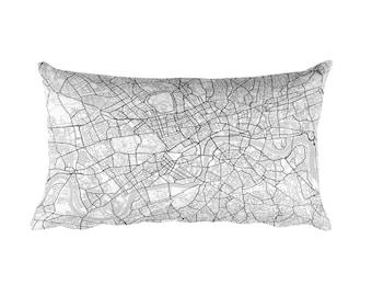 London Pillow, London Decor, London Throw Pillow, London Gift, London Map, London Art, London England, London Throw, London Home, Cushion