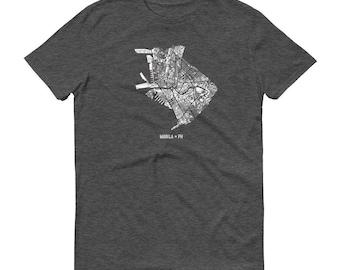 Manila Shirt, Manila, Philippines, Manila TShirt, Manila Gift, Manila Tee, Manila Map, Philippines Shirt, Philippines Map, Philippines Art