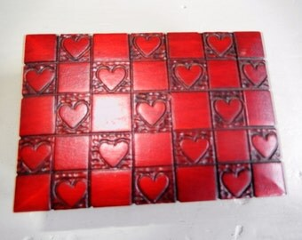 Stienbach Valentine Box, Wooden Trinket Box, Made in Europe, Hearts and Squares, Wooden Box
