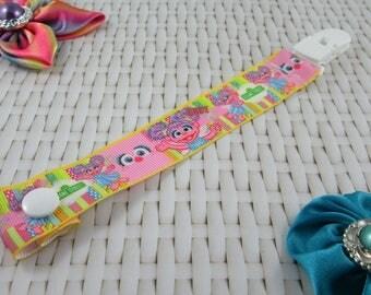 Dummy Clip / Pacifier Strap - Abby Cadabby