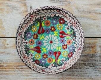 Bowl, black bowl, turquoise bowl, purple plate, decorative bowl, ceramics, blue plate, handmade bowl, small bowl, pottery, handmade pottery
