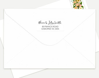 Personalised Printed Return Address Labels 6 Styles To Choose From!