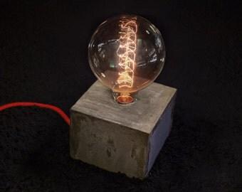 CONCRETE concrete cube/CUBE LAMP/Lamp
