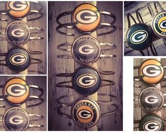 Green Bay Bracelet, Packers Bracelet, Green Bay Jewelry, Wisconsin, Packers Jewelry, Green Bay Packers Jewelry, Green Bay Gift