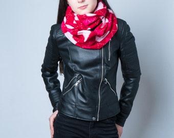 Argyle Plaid infinity scarf, Tartan tube scarf, snood, loop scarf, tube scarf, women's tube scarf, ladies tartan scarf, red plaid scarf