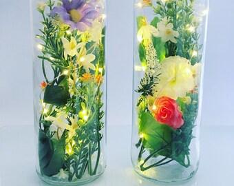 Wedding Anniversary Gift, Bottle Light, Personalised Anniversary, Fairy Lights, Wedding Gift, Valentine's Gift, Gift for Wife, Customised
