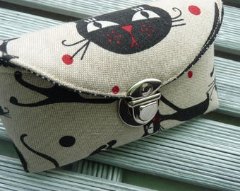 Cats Sunglasses Case, Fabric sunglass case, hard case, Spectacles case, Sunglasses holder, Sunnies Case, Eyeglass sleeve, Cats lover gift