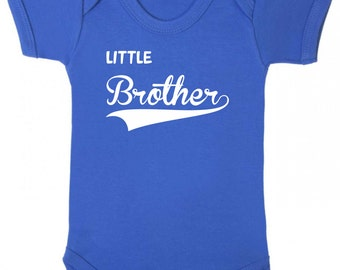 Little Brother Baby Romper Baby Vest Baby Clothes Babywear Body suit Sleepsuit Family New baby New brother gifts big brother novelty