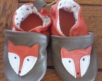 Fox leather slippers