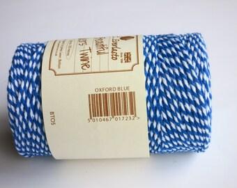 Oxford Blue Bakers Twine  (Everlasto) - Multicoloured Twine, Craft twine, Christmas twine, craft twine, gift wrap twine, Blue twine