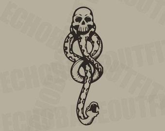 Dark Mark Harry Potter Death Eater vinyl decal sticker