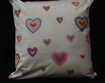 """Two Lovely Hand Made Liberty Fabric 17"""" (43 cm) square Cushion Covers"""