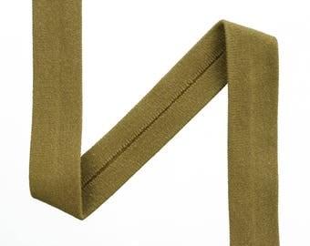 1m Jersey Ribbon beige color uni