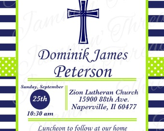 Baptism Invitation / Printable / Personalized / Christening Invitatation