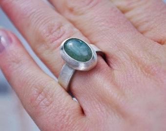 Ring Silver 925 with a CHF Aventurine quartz