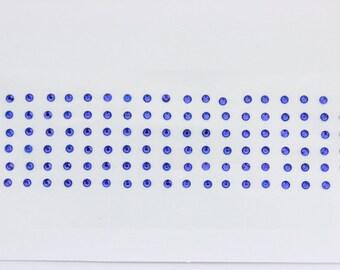 110  Royal Blue Crystal dots Bindi third eye bridal bindi stickers face jewels bellydance round bindi