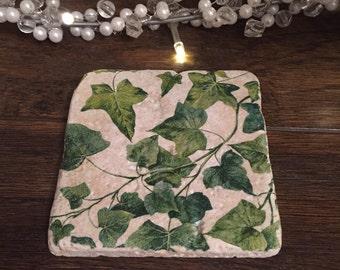 Ivy stone coasters