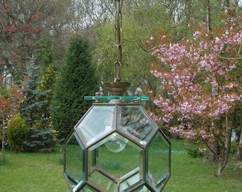very Pretty and unusual vintage French  lantern (10U)