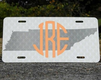 Custom Tennessee Monogram License Plate