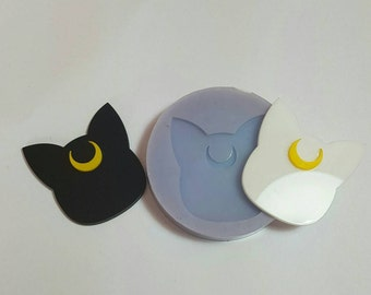 Flexible silicone mold shiny cat Sailor Moon!