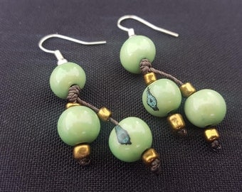 Earrings Acai Apple Green made in Ecuador