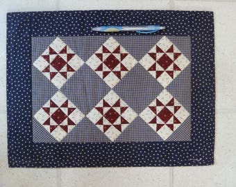 Miniature Patriotic Star Quilt, Darlene Zimmerman, personal collection, published mini quilt, Red, White and Blue