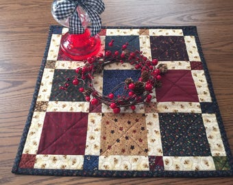 Table Runner/Table Topper/Dresser Scarf/Handmade/Quilted/Primitive      Country Decor  Item #124