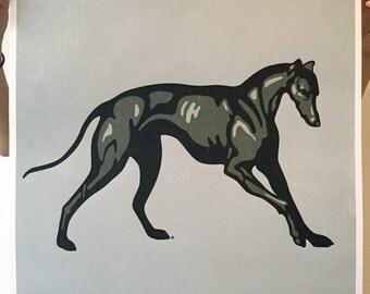 Greyhound Print, Greyhound Poster, Greyhound Art, Racing Dog Art, Greyhound Art Print, Greyhound Wall Art, Dog Art, Dog Wall Decor Dog Print