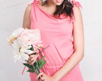 Pink/Peachy Pink  Playsuit Sleepwear/Nightwear available in sizes 8-10, 12-14