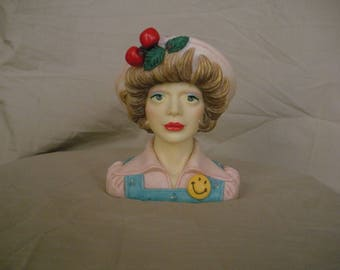 "Eloise 1972 ""High School Sweetheart""  Head Vase"