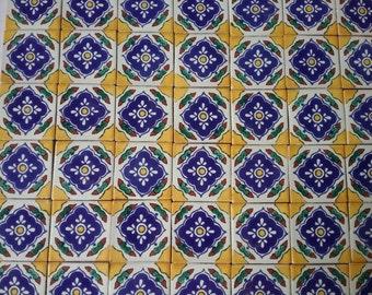 Mexican Talavera tiles x 50 x 5cm x 5cm each