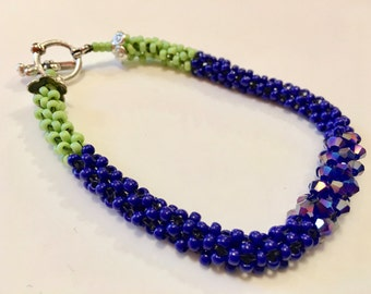 Blue and Green Crystal Delight Bracelet