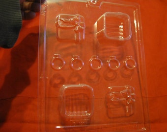 Engagement Wedding Ring and Ring Box Chocolate Candy Mold Dress my Cupcake