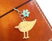 Travelers Notebook Charm, Notebook Charm, Bird Charm