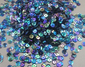 20g/lot(approx 1000pcs) 6mm Polychrome Flake Rainbow Cup Sequin Confetti