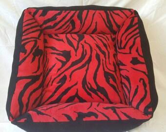 Medium Zebra Print Pet Bed