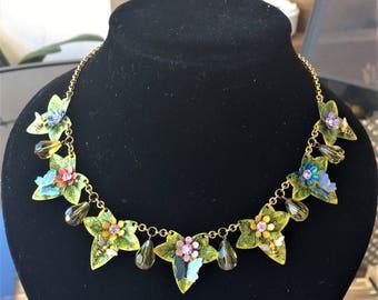 Beautiful Summer Garden Colourful necklace
