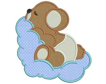 Baby bear4 Applique Design 5 sizes included.Machine embroidery design. Bear Embroidery design PES,Kid Embroidery, embroidery design,Applique