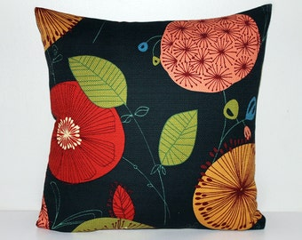 Soft canvas floral indoor outdoor cushion cover