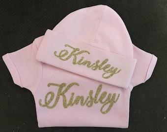 Matching Hat and onesie set