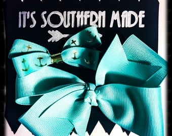 Anchors Away Bow Collection in Turquoise