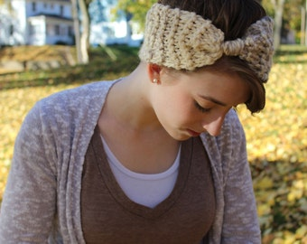 Knitted Turban Headband/ Ear-warmer
