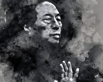Wing chun master, Martial arts, wall art, wing chun print, wing chun sifu, martial artist